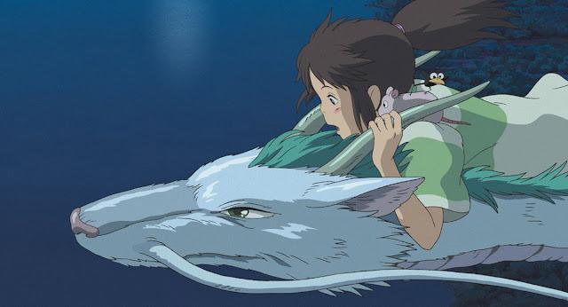 Fotograma de la película de animación japonesa de Studio Ghibli El viaje de Chihiro