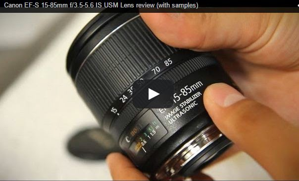 Canon EF-S 15-85mm f/3.5-5.6 IS USM Lens review - YouTube Video