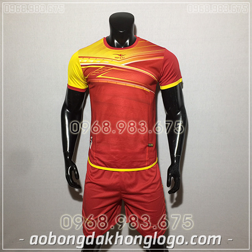 Áo bóng đá ko logo KeepFly PVĐ màu đỏ