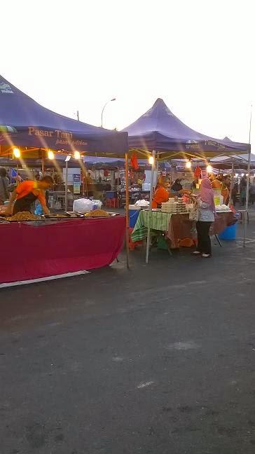 harga barangan pasar malam Taman Seroja di Salak Tinggi