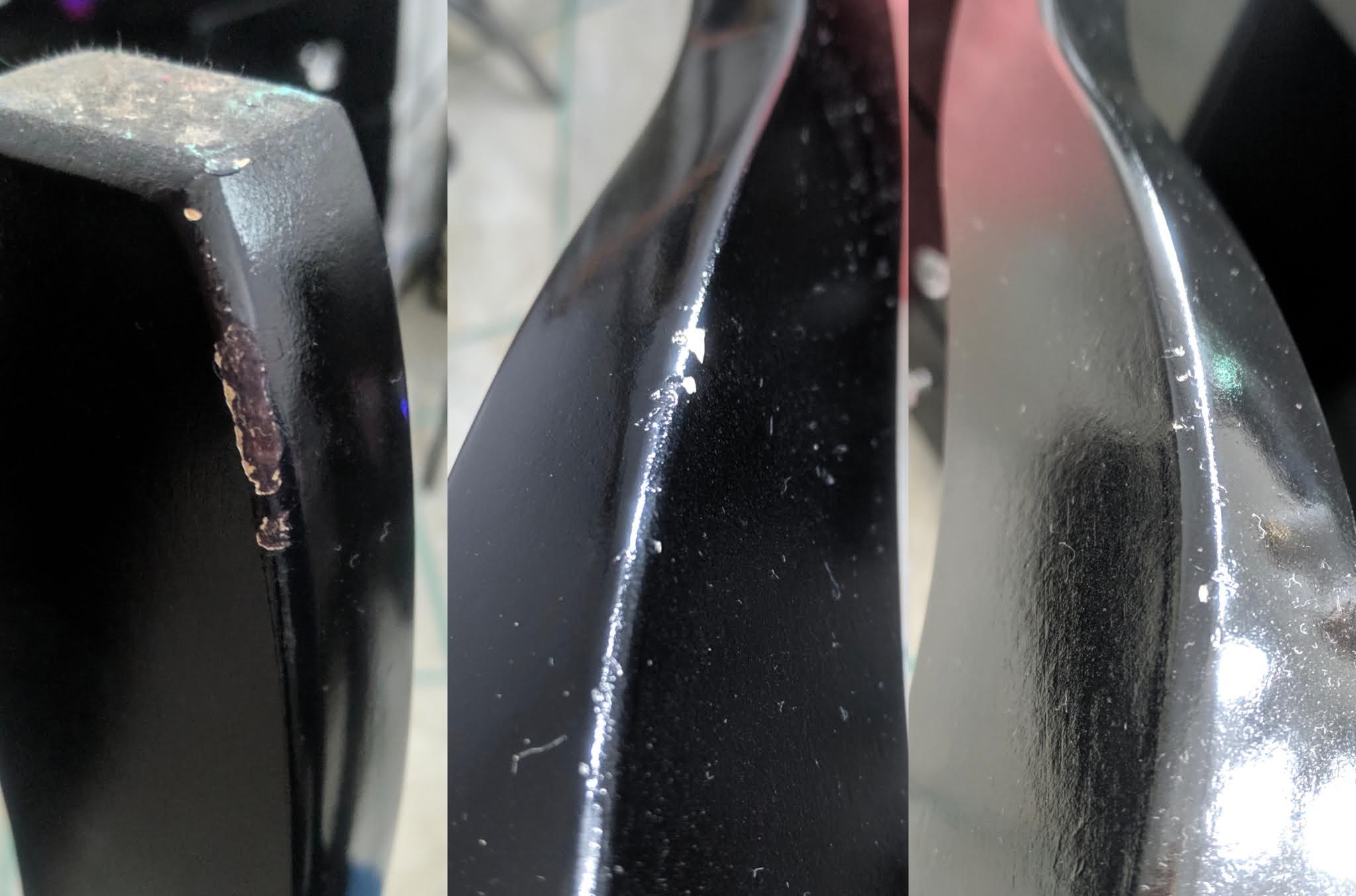 Descascamento nas pernas do banco giulia presentes
