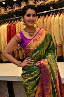 Raashi Khanna in colorful Saree looks stunning at inauguration of South India Shopping Mall at Madinaguda ~  Exclusive Celebrities Galleries 011.jpg