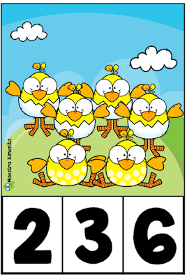 tarjetas-conteo-primavera-animales-preescolar