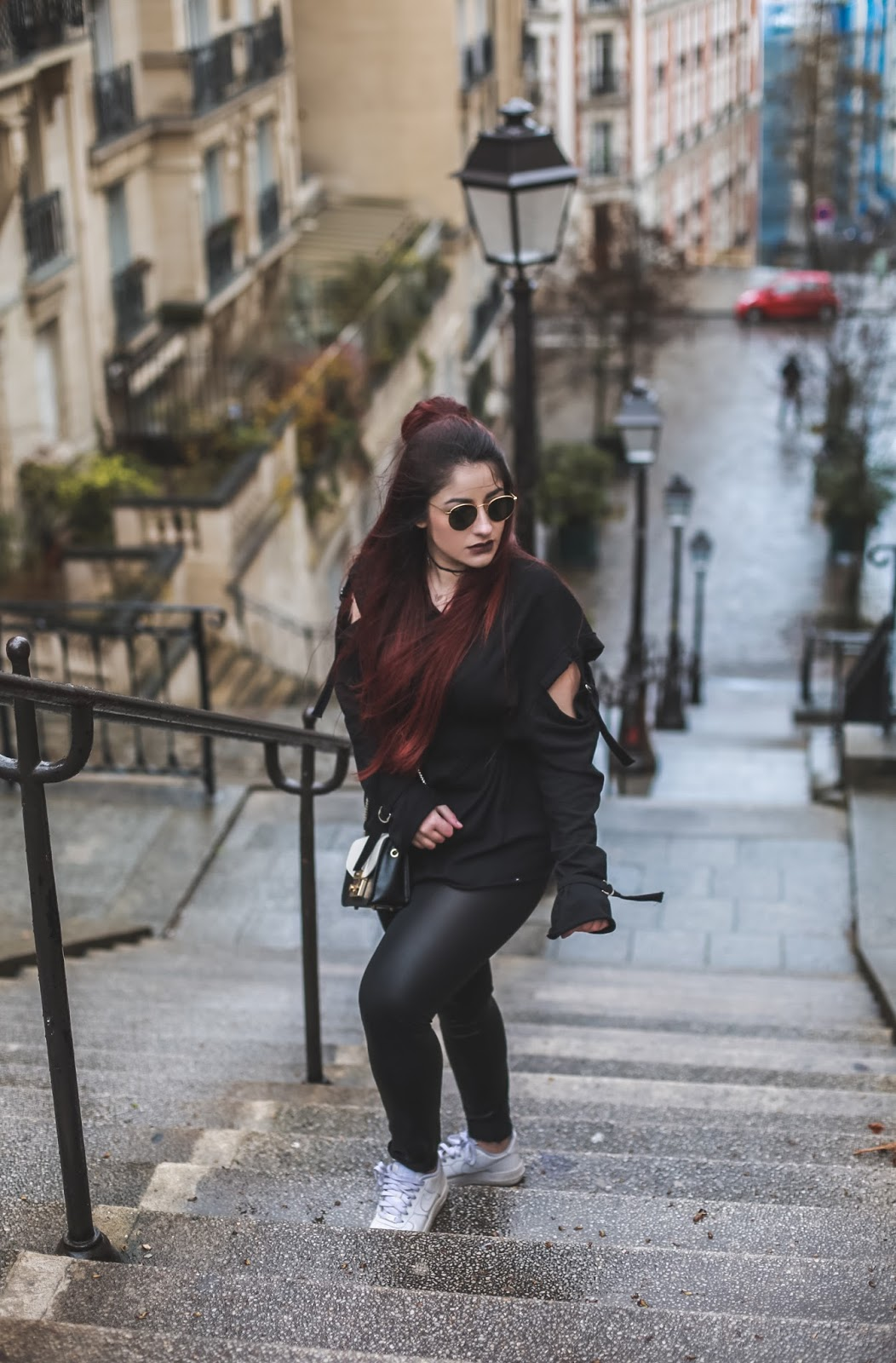 pantalon cuir blog mode