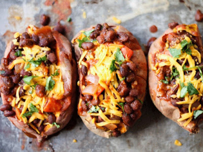 Black Bean-Stuffed Sweet Potatoes