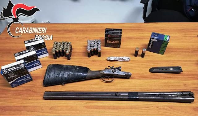 In spalla con armi. 25enne foggiano arrestato dai Carabinieri di Rignano Garganico