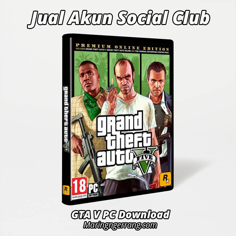Jual Akun Social Club GTA V Online PC
