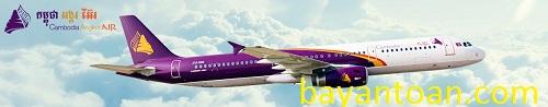 Hãng hàng không quốc tế Angkor Air ưu đãi cho chủ thẻ Vietcombank