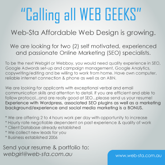 Calling all WEB GEEKS (PROS)
