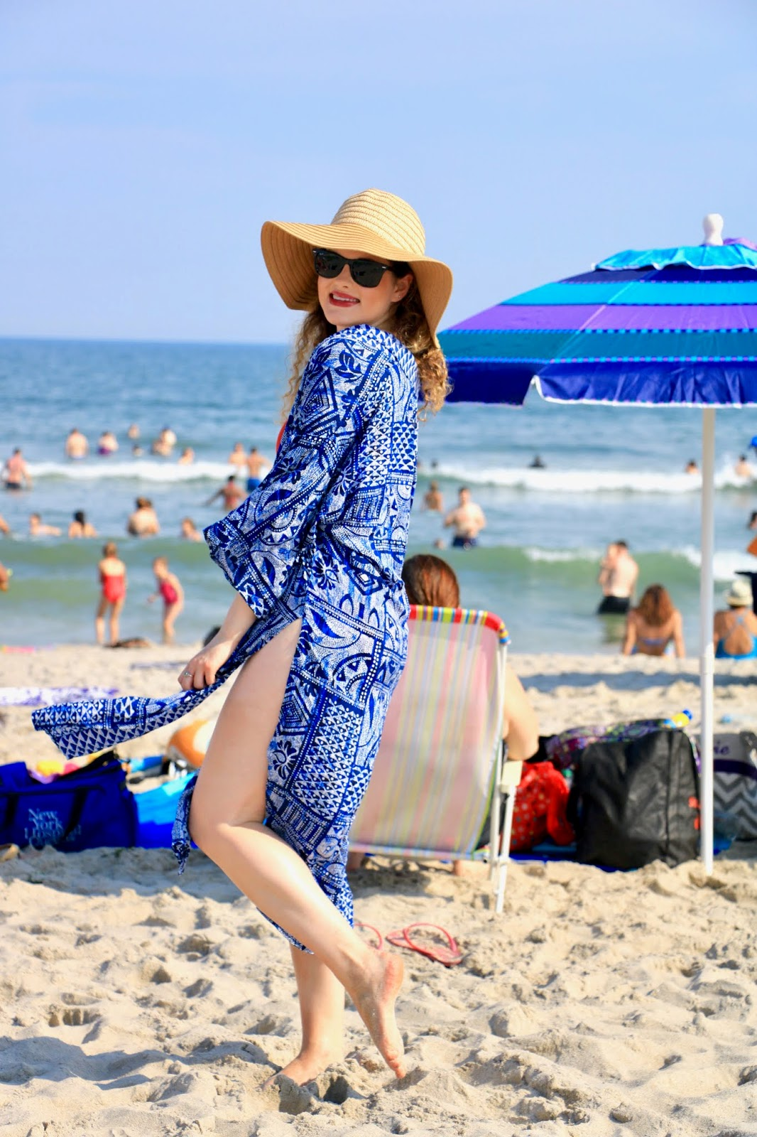 Nyc fashion blogger Kathleen Harper's cute beach coverup from Gap