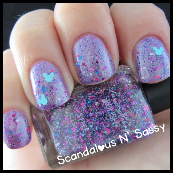 Sweet Heart Polish - I've Got a Dream with Hide & Seek Pascal over with mickey heads - the Tangled Trio