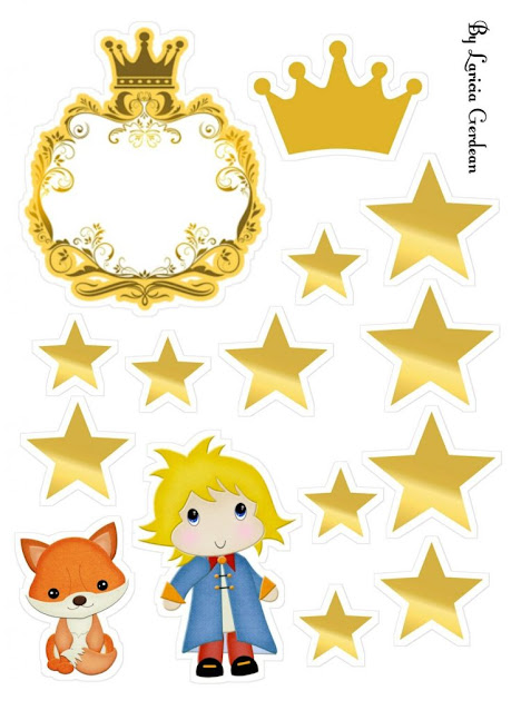 The Little Prince Blondie: Free Printable Cake Toppers.