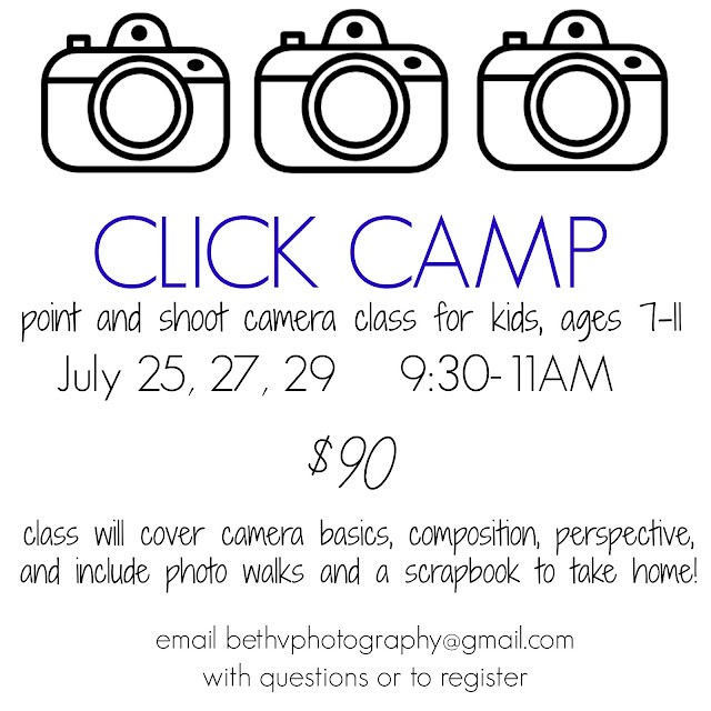 Click Camp-Summer Photography Class for Kids!