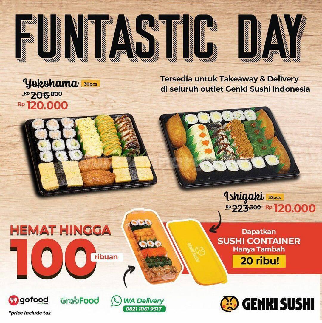 GENKI SUSHI FUNTASTIC DAY! Promo Hematnya hingga 100 Ribu-an