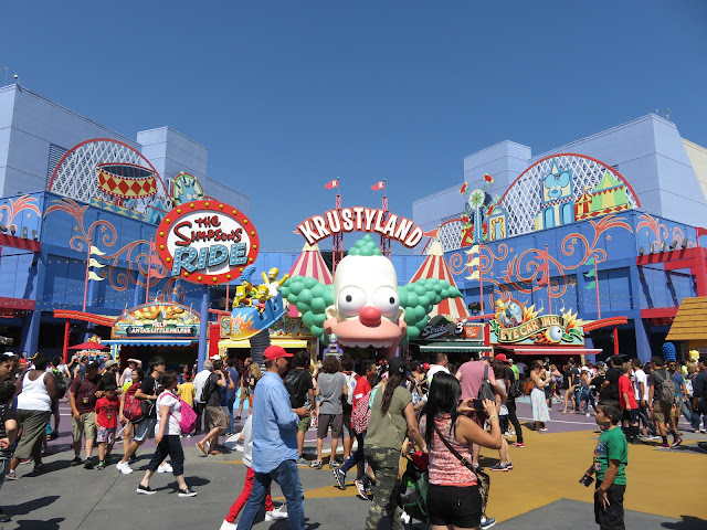 The Simpsons Ride Krustyland Universal Studios Hollywood