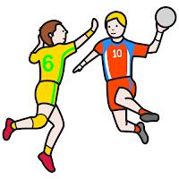 Resultado de imagen de dibujo de balonmano