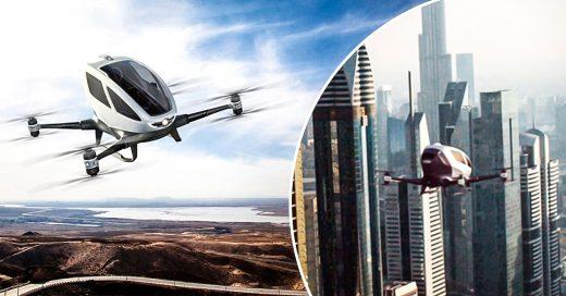 Los TAXI-DRONES serán una realidad en DUBAI este año