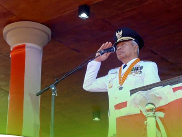 Burhan Abdurahman Pimpin Upacara Peringatan Detik-Detik Proklamasi Kemerdekaan RI ke 73