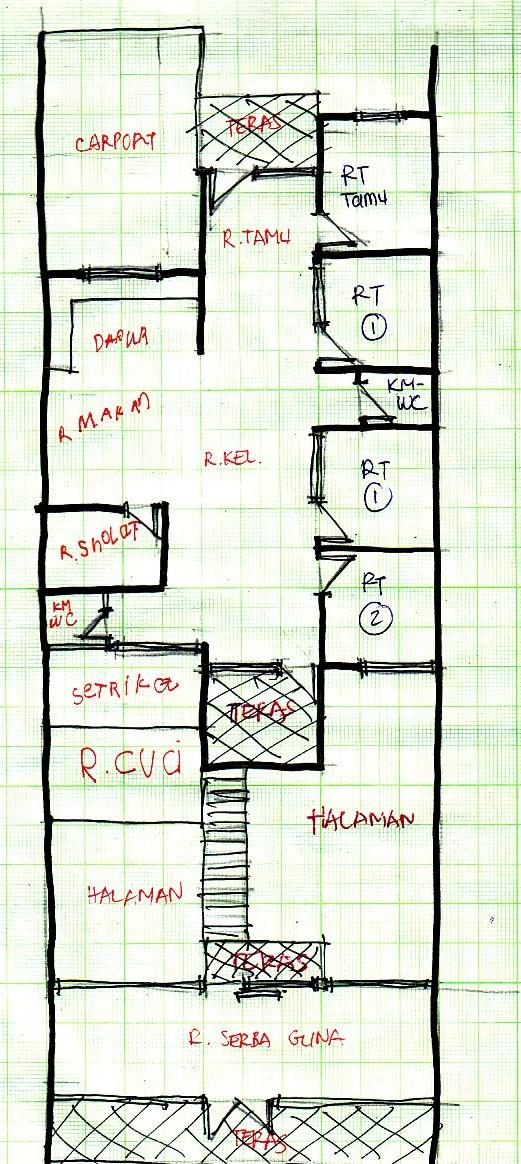 gambar denah rumah lebar 6m 3