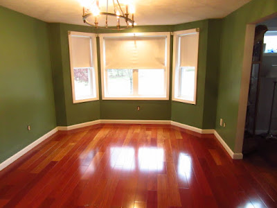 The finished painted dining room.