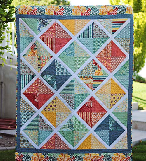 Salt Air Lattice Quilt - Tutorial
