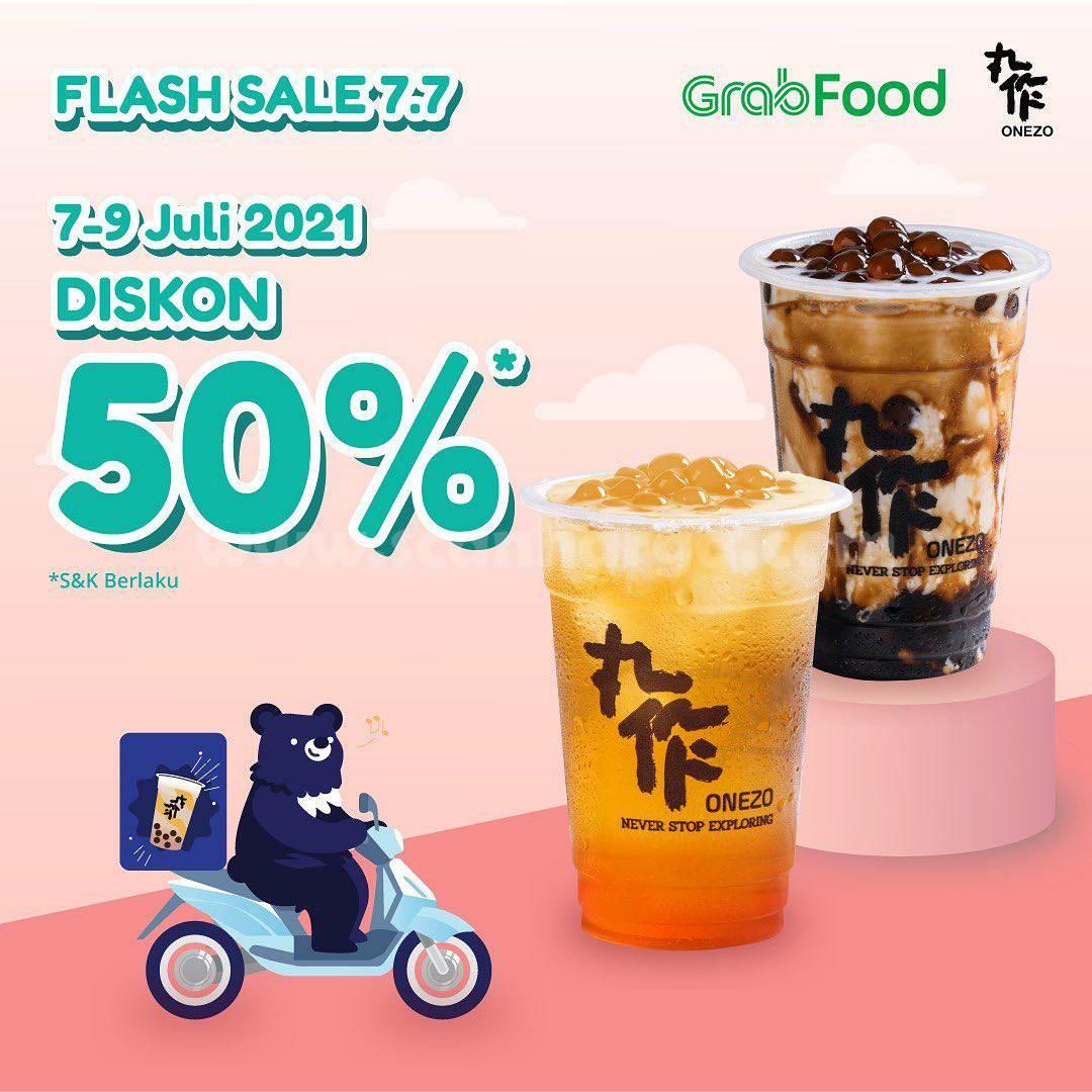 OneZo Promo Flash Sale Diskon hingga 50% via Grabfood