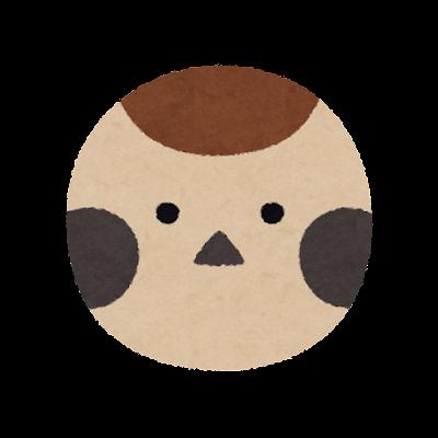 雀の顔のマーク