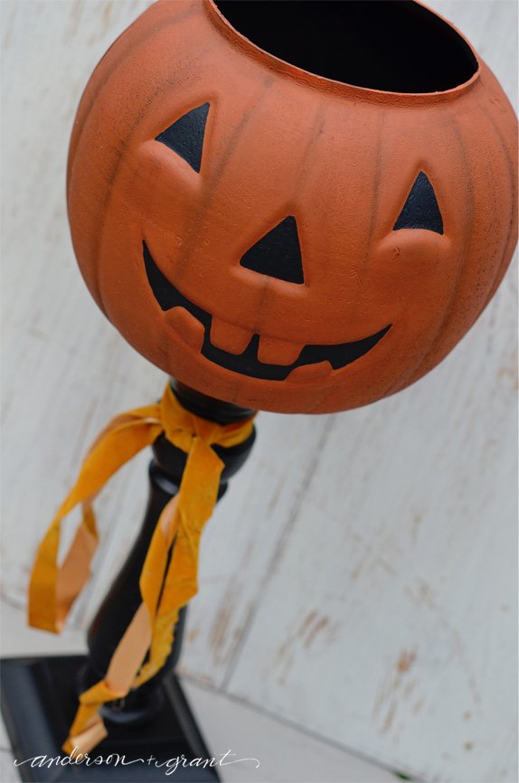 DIY Thrift Store Jack O Lantern Bucket | Halloween Favorites at www.andersonandgrant.com