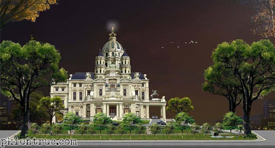 mô hình thiết kế biệt thự lâu đài