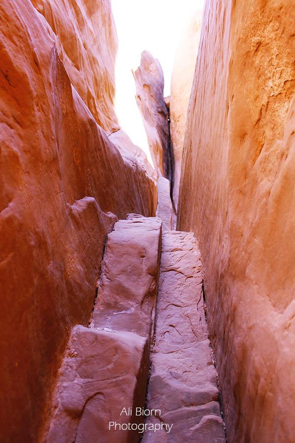 Arches National Park Slot Canyon Utah