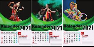 kalender 2021 desain untuk dinding