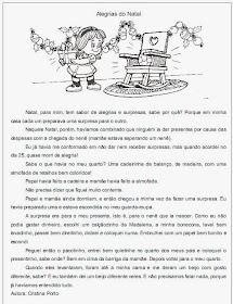 Atividades de Natal - Textos para interpretação