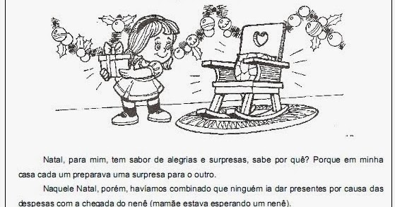 Blog Professor Zezinho Atividades De Natal Textos Para
