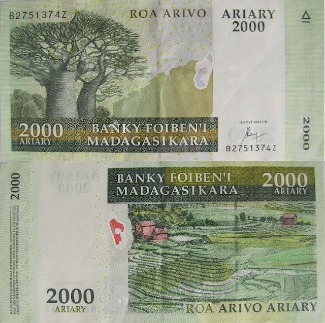 2000 ariary madagascar money