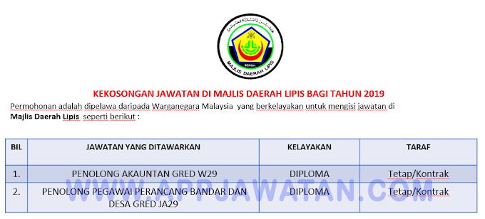 Jawatan Kosong Terkini di Majlis Daerah Lipis.