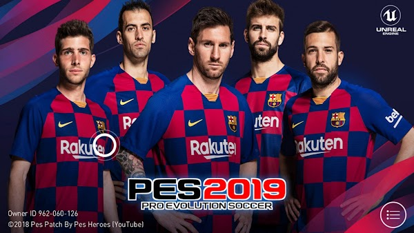 PATCH 3.3.1 PES 2019 MOBILE MOD BARCELONA (NO ROOT) !