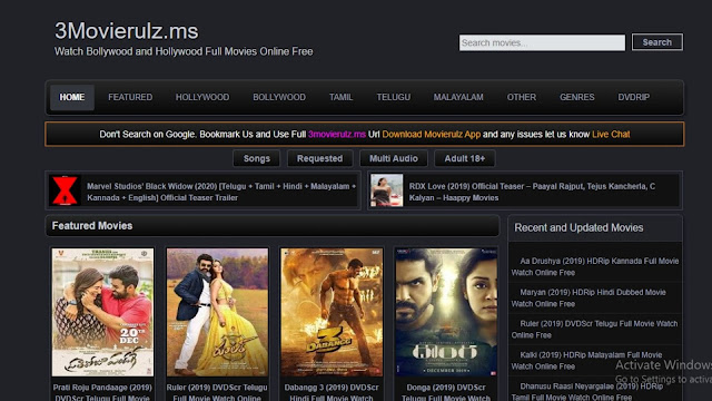 Movie Rulz New Link 2020 - Hollywood And Bollywood Movies For Download