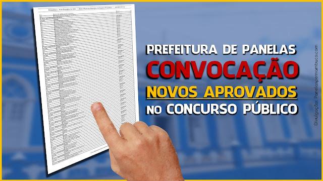 EDITAL COM NOMEAÇÃO DOS NOVOS APROVADOS NO CONCURSO PÚBLICO