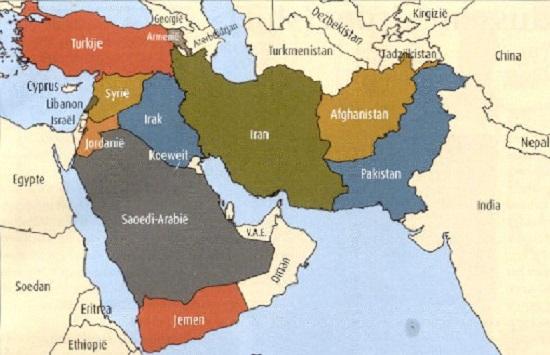 Medio Oriente Cartina Fisica.Tesina Sul Medio Oriente Terza Media Scuolissima Com