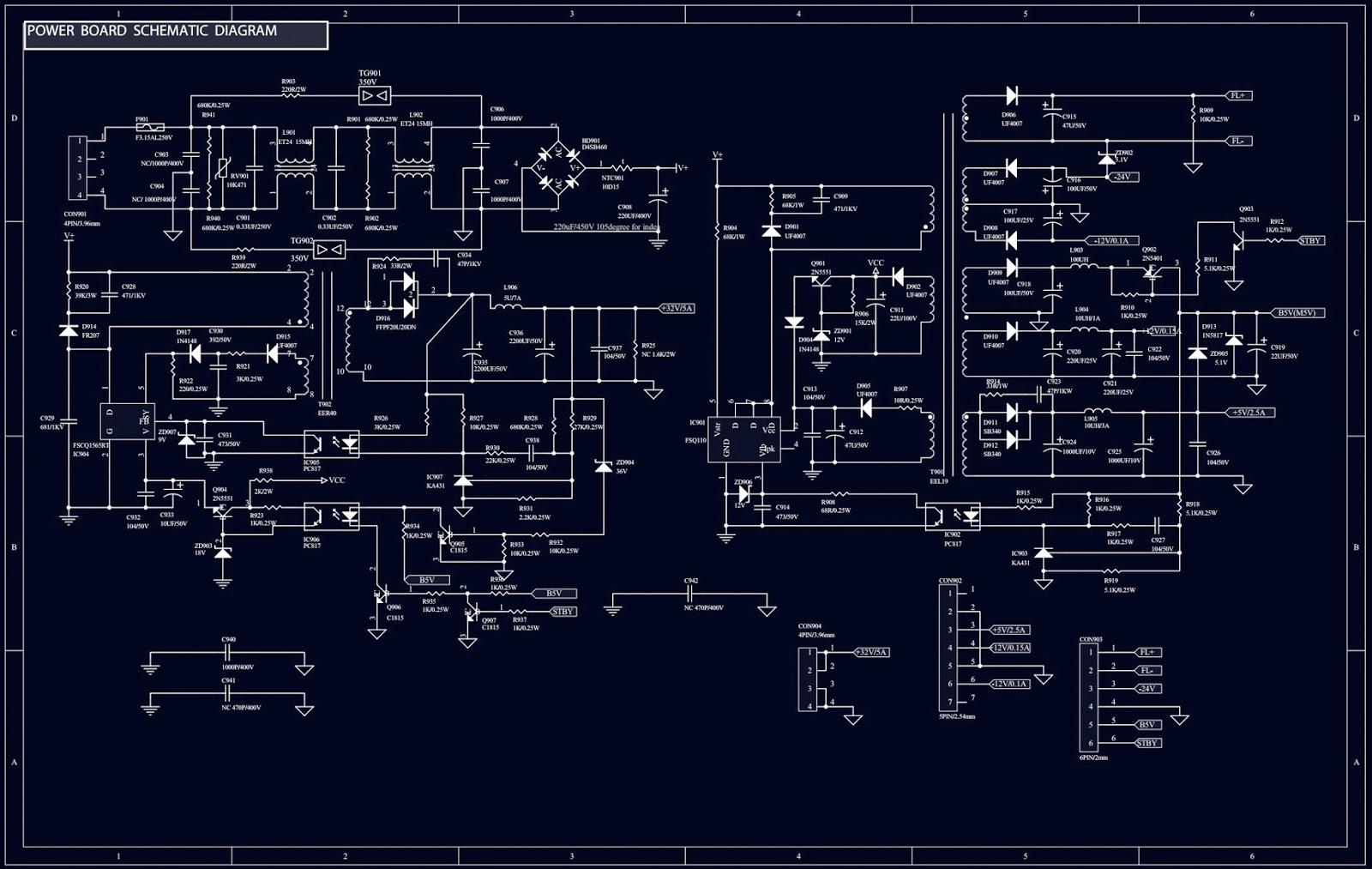 keyboard circuit diagram [ 1600 x 1013 Pixel ]