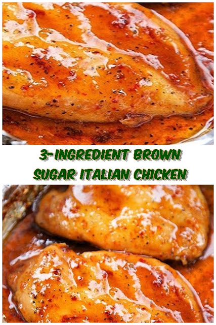 3 #INGREDIENT #BROWN #SUGAR #ITALIAN #CHICKEN #chickenrecipes #recipes #dinnerrecipes #easydinnerrecipes