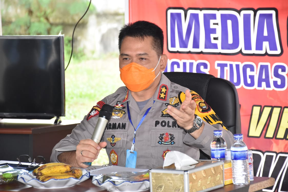 Kegiatan Anev Tim Satgas Gugus Tugas Penanganan Covid-19 Provinsi Jambi,Dipimpin Oleh Kapolda Jambi