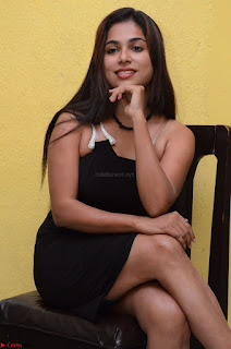 Vrushali Gosavi in strapless Short Black Dress At Follow Follow U Audio Launch 021.JPG