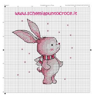 teneri coniglietti a punto croce