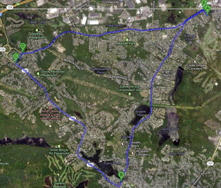 Google map of the area that I ran.