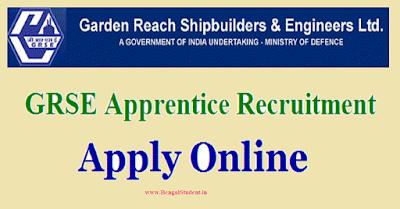 GRSE Recruitment 2019 -Apply Online Apprentice 200 Posts-www.bengalstudent.in