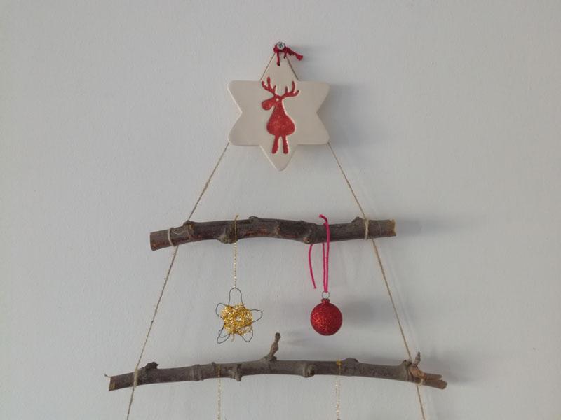 Foto: Perticolare dell'albero di Natale da appender al muro