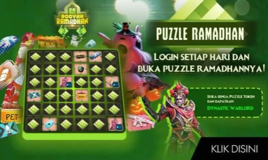 Event Puzzle Ramadhan Free Fire Berhadiah Bundle Gratis Terbaru!