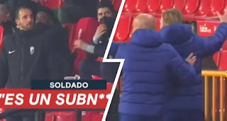 Granada striker Soldado raged out on Koeman celebration in Barca extra-time win