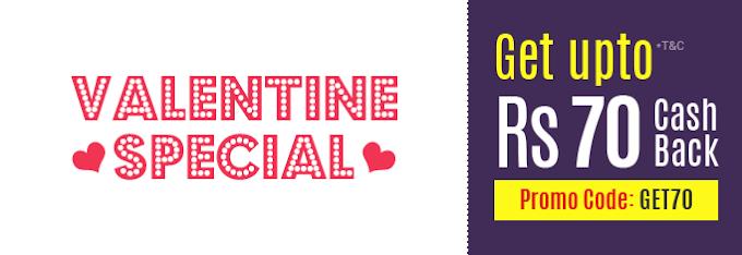 Fastticket Valentine's Day Cashback Upto Rs.70 Promo Code